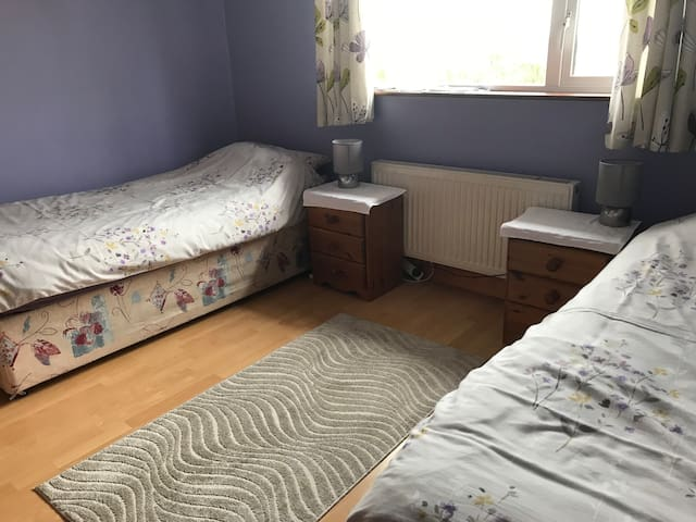 Twin room in lovely quiet suburb of Cork city.