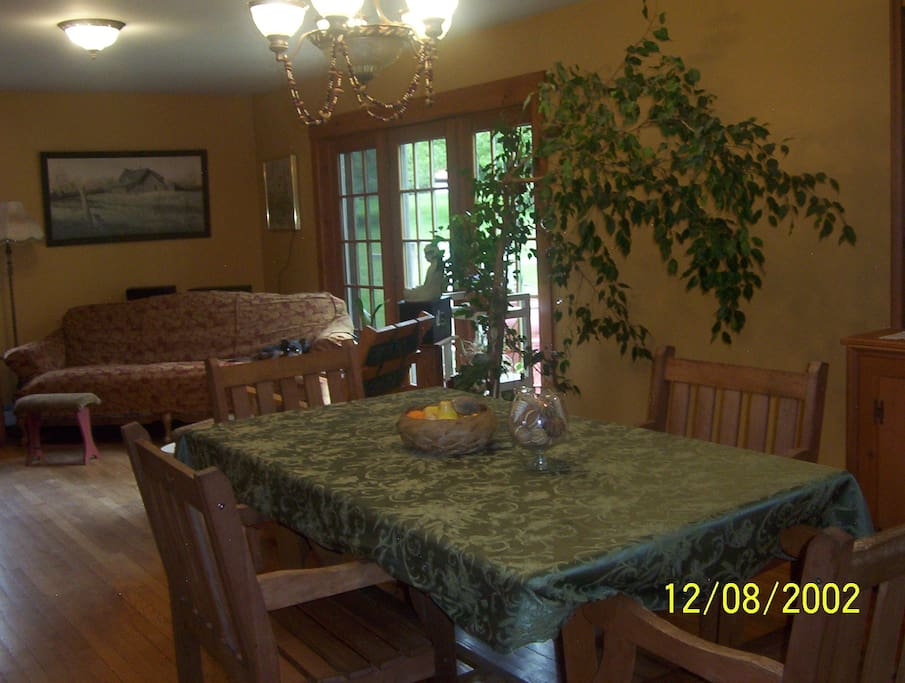 The dining and sitting area.