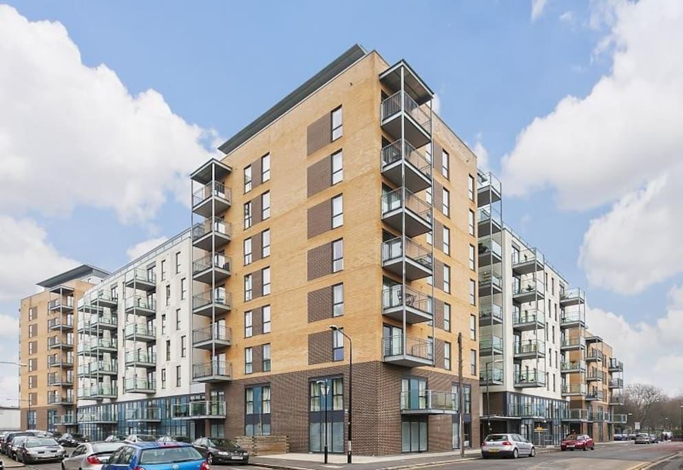 View of apartment block (4 minutes' walk from Canning Town station)