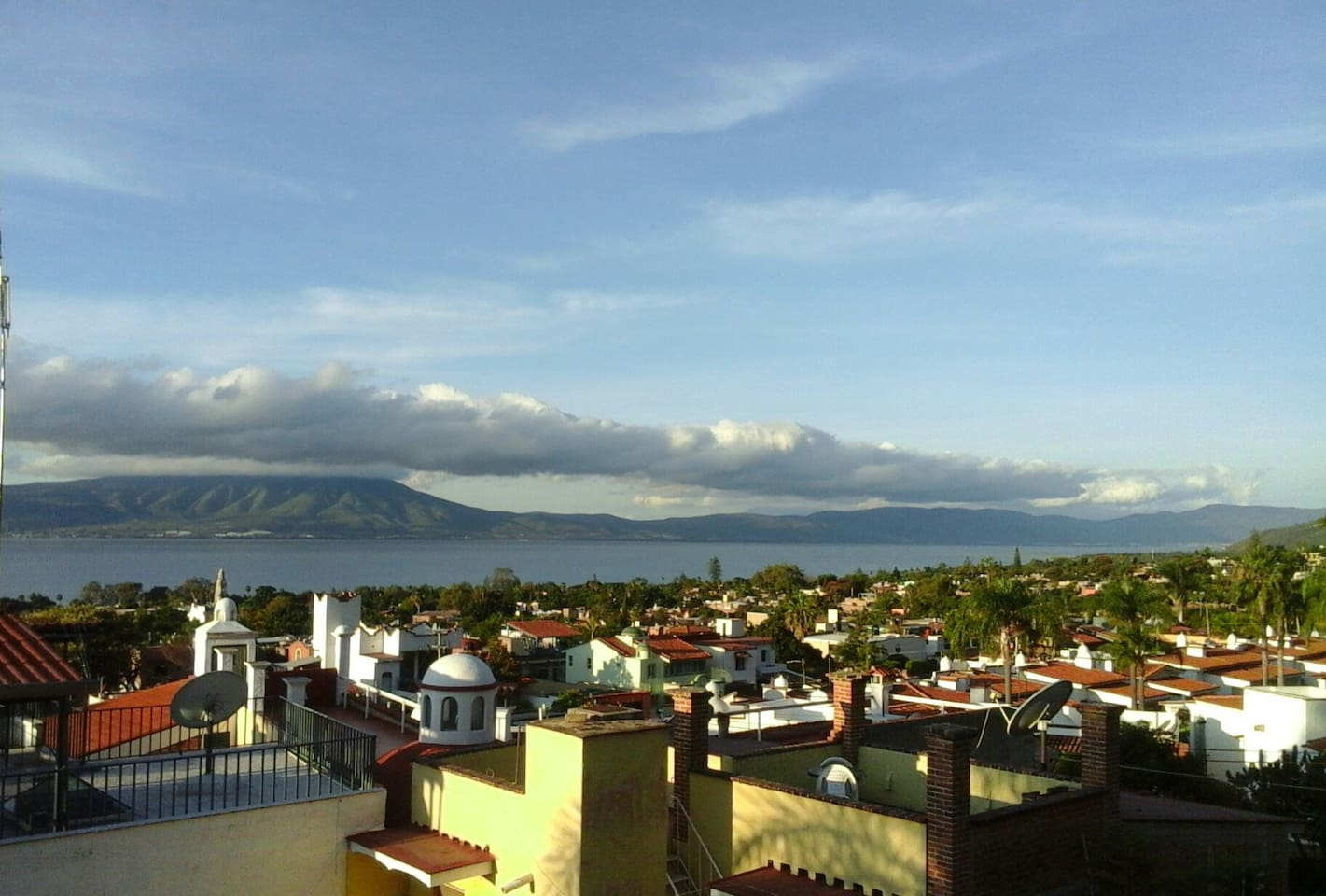 fabulous view from the covered top roof / mirador