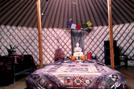 Comfortable yurt with stove - Cretas
