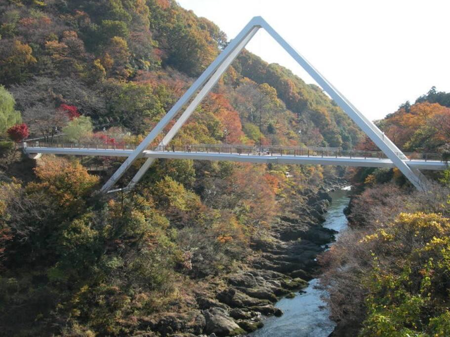 Hanetaki bridge 5-7 minutes on foot from the house.