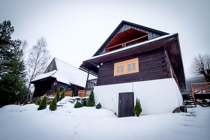 Cozy log cabin in beautiful West Tatras.