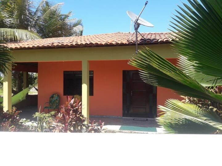 Casa em lagoa de praia lado da barra de Mamanguape