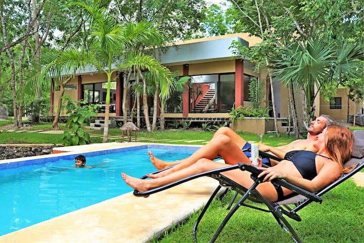 Casa Del Bosque~Un Paraíso En La Jungla De Cancún