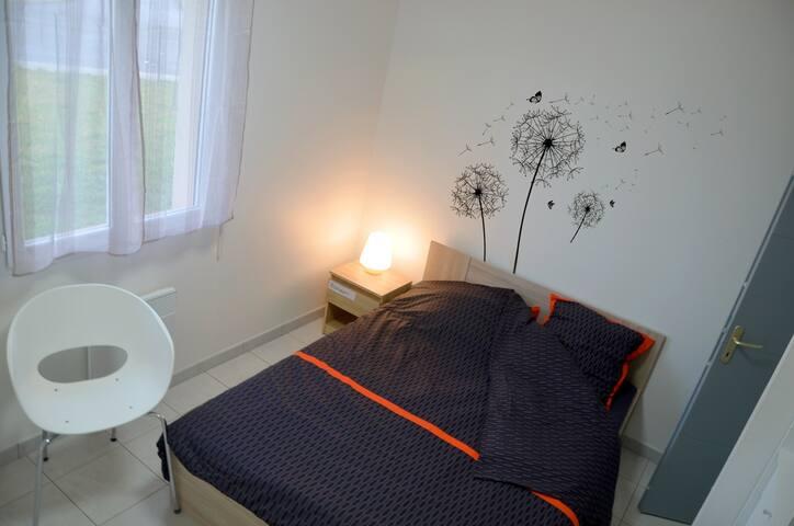 Chambre N°1 confortable Fibre Montauban