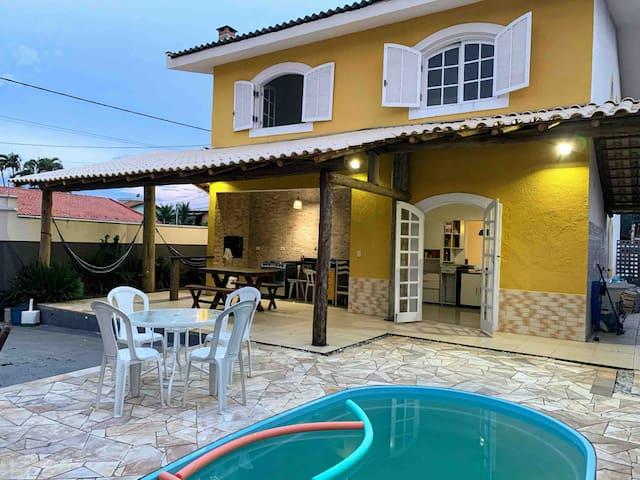 Casa de Praia c/ ar de casa de campo, com PISCINA
