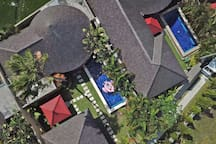 Two Bedroom Villa with Private Pool from aerial photo