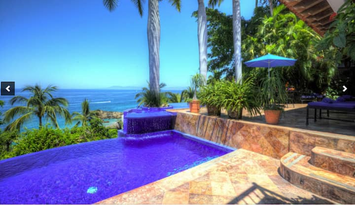 Vacation is here Beach front Villa,staff,pool,view