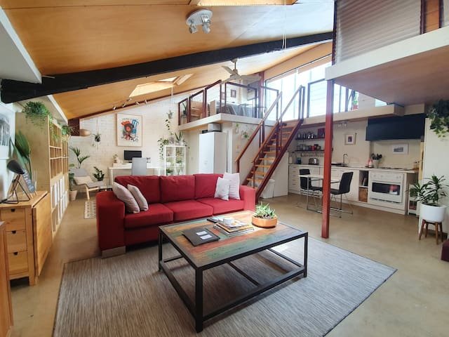 The opan space with lots of natural light