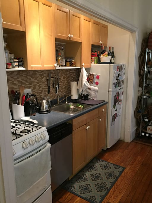 Full-service kitchen to get your day started - kettle, dishwasher, slow cooker - everything you need.