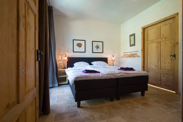 The master bedroom on the ground floor