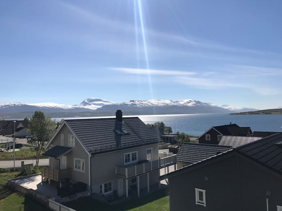 View of Tromsø (15min driving to city center)
