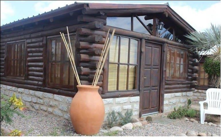 Cabaña de troncos para parejas
