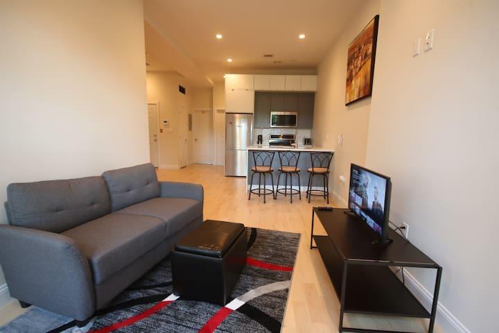 Cozy yet spacious private brownstone bedroom