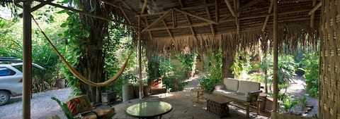 Tropical Jungle House with Beach Access--Top Room