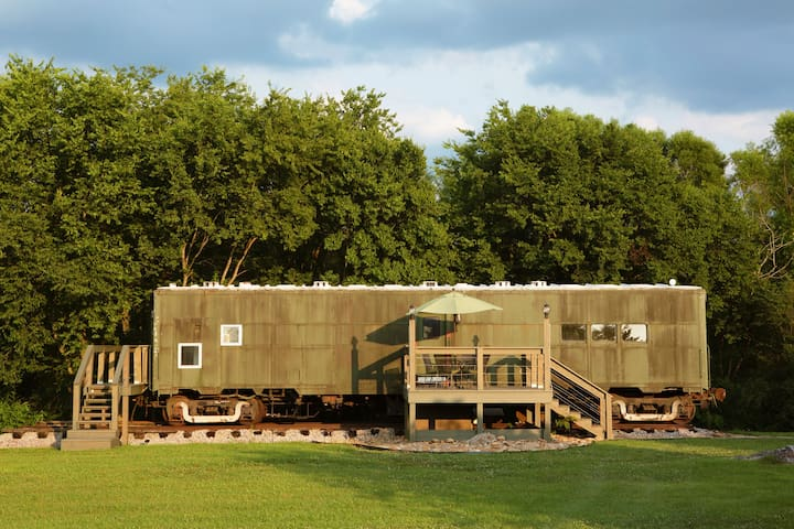 Platform1346-WWII Train Car Turned Vacation Spot!