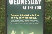 Every Wednesday the Bronx Zoo entrance is free for everyone