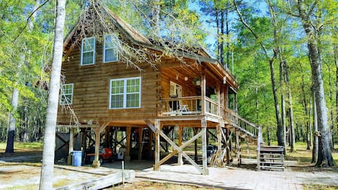 The Log Cabin on the Canoochee River