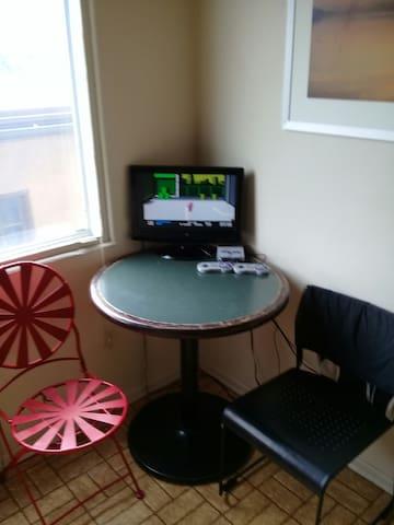 Breakfast nook/ gaming area 500 games NES