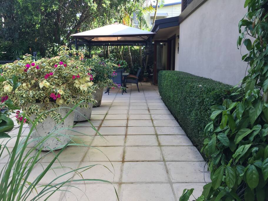 Outdoor living area.