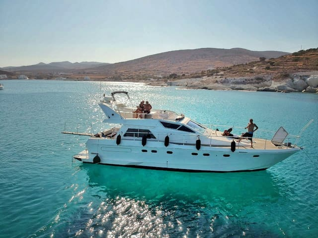 Stay on a Ferretti Yacht in Athens