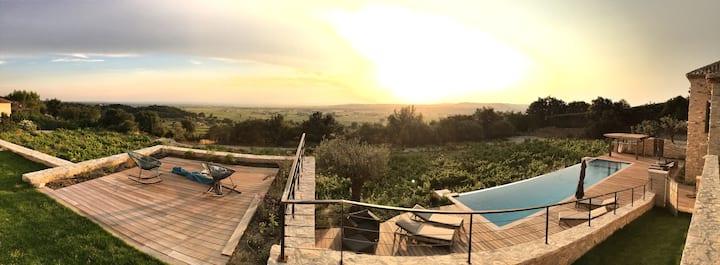 Mas des amis Séguret, Provence, piscine chauffée