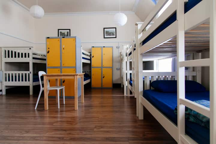 Bed in a 14 bunkbed shared dorm