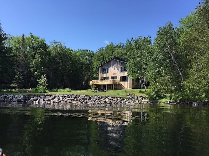 Spacious, cozy camp on unspoiled Cathance Lake