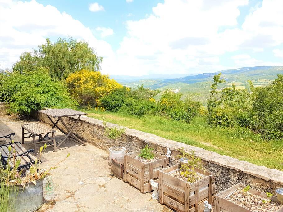 Terrasse, vue sur la nature