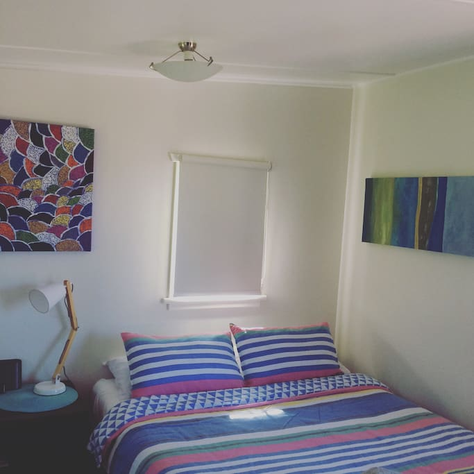 It's said to be a really comfortable bed, vibrant colours throughout and new artwork to admire.
