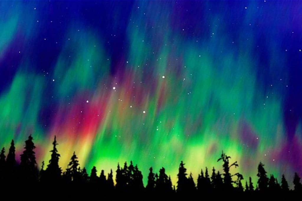 NORTHERN LIGHTS, pic #1, usually visible in Oulu during winter months.  # 15