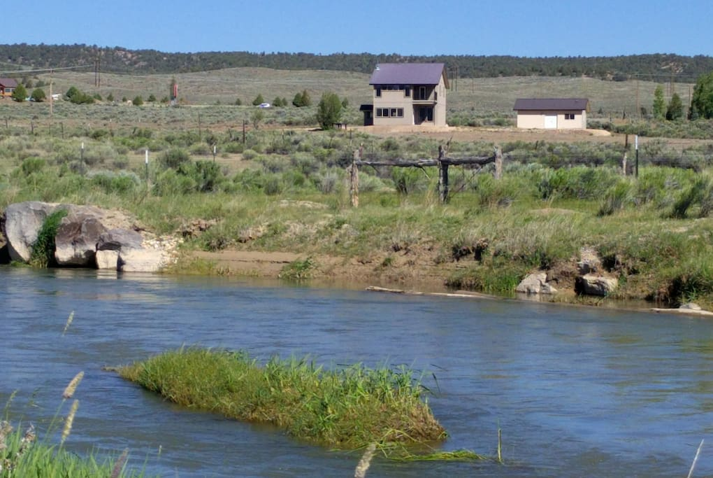 The Sevier River runs through the property and provides for private fishing