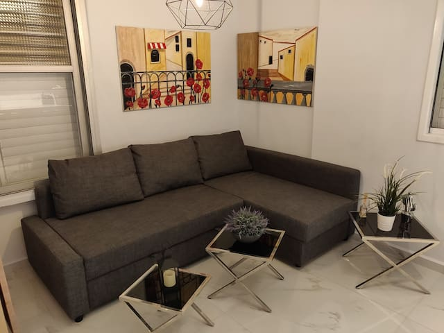 Common space with sofa bed