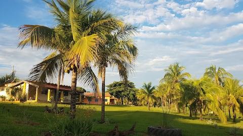 Hospedagem na Casa do Sol - Fazenda Sul América