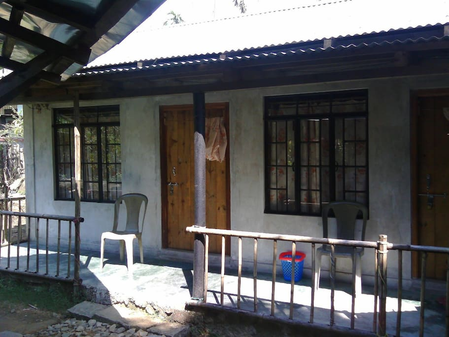 this one accomodate for 8 person it include four double bed with two attached toilet bahroom.