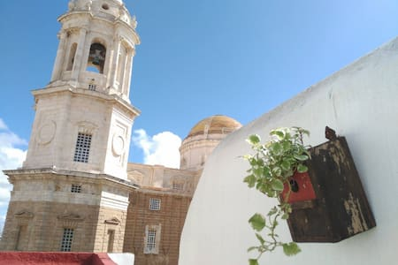 Private sunny terrace overlooking Cadiz cathedral - Cádiz - Flat