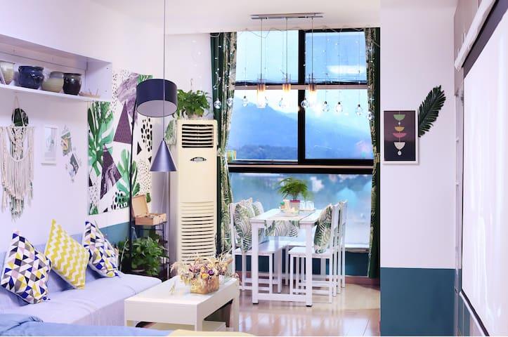 【iHome】高层落地窗高清投影双地铁鸡鸣寺 玄武湖·凯瑟琳广场