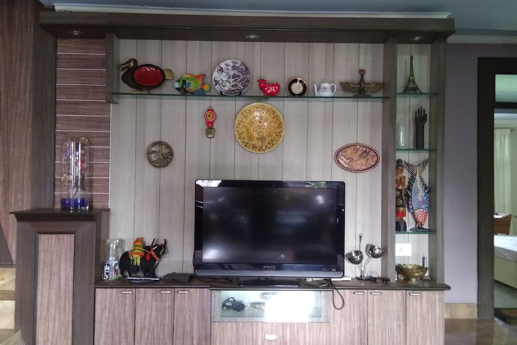 LED TV with functional cable in the living room