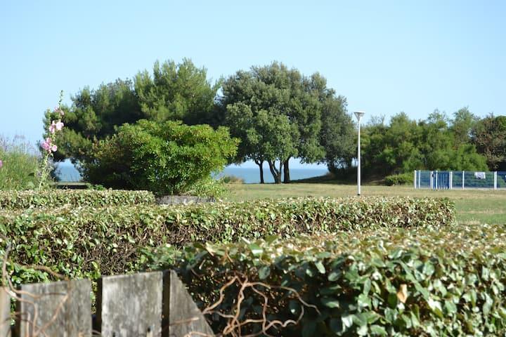 Studio/terrasse tout près de la plage des Minimes