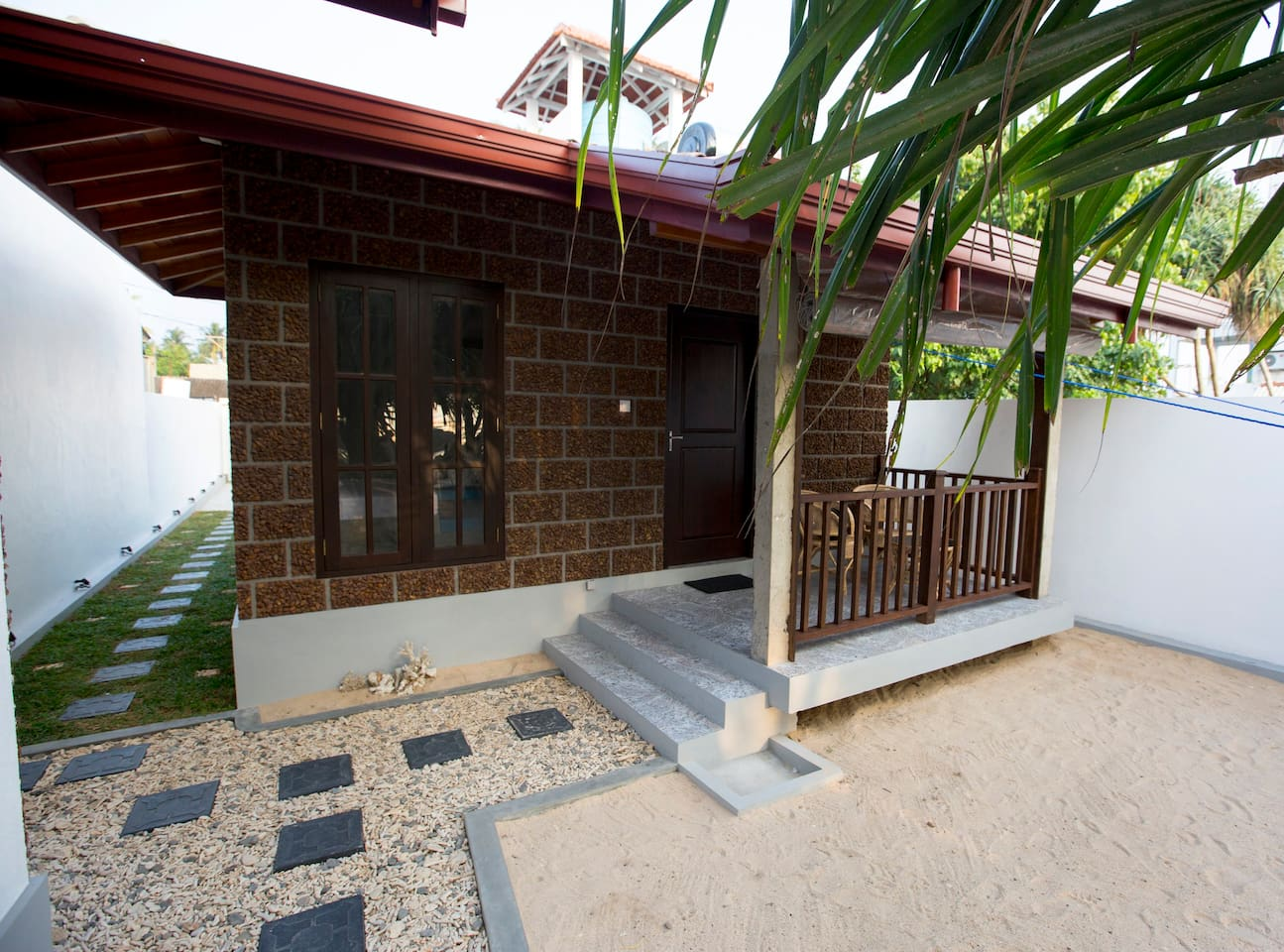 Front view of the one Beach Cabana