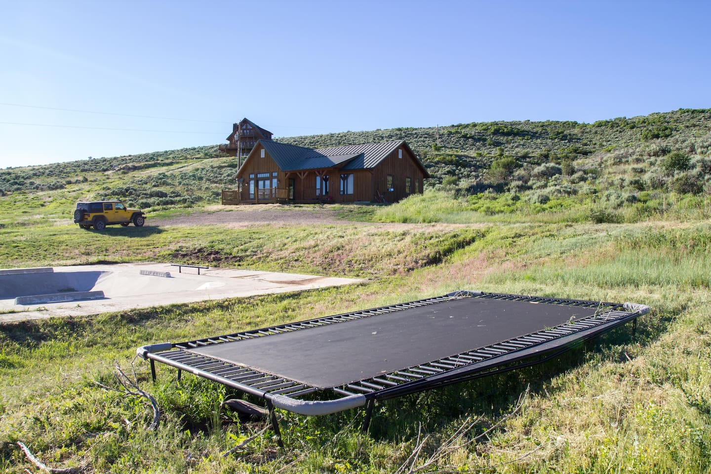 house and skatepark with a view near aspen houses for rent in