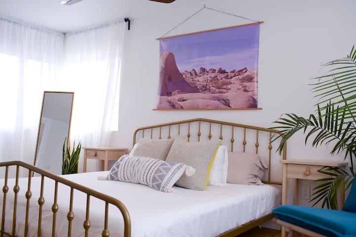 Relax in your serene bedroom