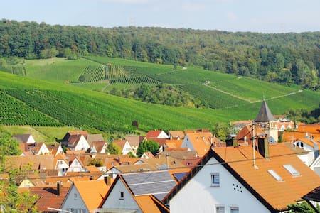 Helle Dachwohnung mit schönem Blick auf Weinberge - Weinstadt