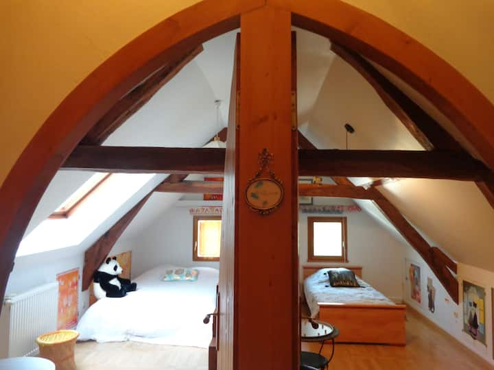 jolies chambres cadre champêtre reposant ++