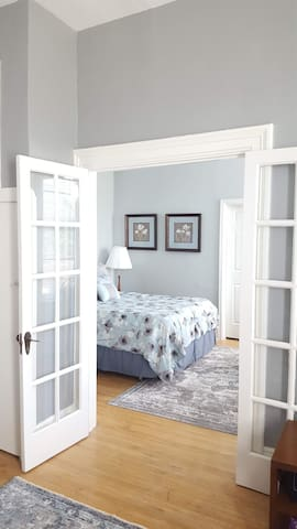Welcoming French doors