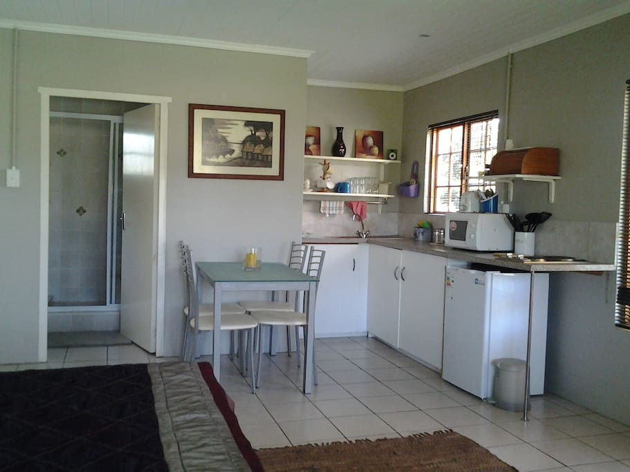 own kitchen and dining area