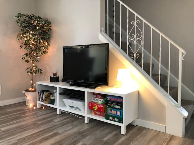 TV located at Living room