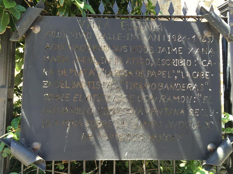 Placa del jardín