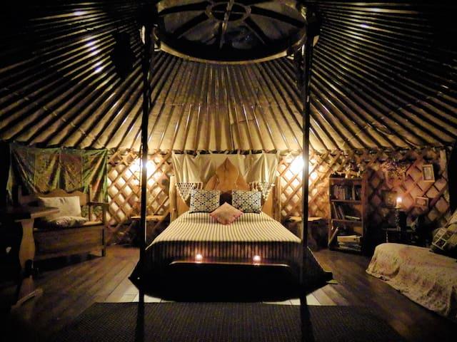 Eastern yurt glamping